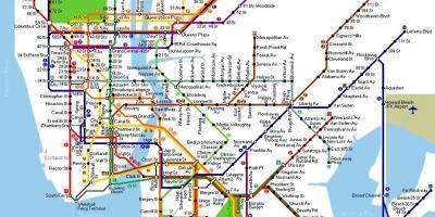 New York City New York Mapa Mapy New York City New York New